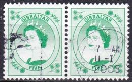 Gibilterra, 1999 - 5p Queen Elizabeth, Coppia - Nr.782 Usato° - Gibilterra