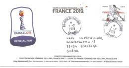 2019 Finale De La Coupe Du Monde De Football Féminine :Lyon 7 Juillet :carte Comité D'Organisation. - Calcio