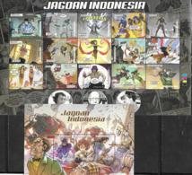INDONESIA, 2019, MNH,INDONESIAN COMICS, SHEETLET+ S/SHEET - Comics
