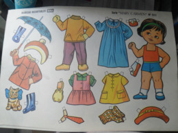 Cut Out  A Decouper Doll Poupee - Altre Collezioni
