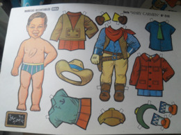 Cut Out Doll Cowboy A Decouper - Other Collections