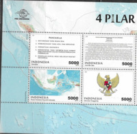 INDONESIA, 2019, MNH, INDEPENDENCE, COAT OF ARMS, MAPS, 4v - Celebrations