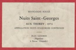 Etiquette - Vin - France - Bourgogne - 1974 - Nuits Saint-Georges Aux Thorey. - Etiketten