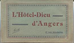 CARNET CPA - 12 Vues - ANGERS - L'HOTEL DIEU .... (Hôpital - Qq Vues Animées) - Angers