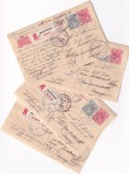 Lot De 4 Briefkaart Recommandé 1917 Maastricht- Luttich ( Se Suivent) - 1891-1948 (Wilhelmine)
