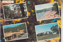 RT33.239  VAR.LE RAYOL .4 VUES : L'EGLISE. LA PLAGE.LE PATEK.LE VILLAGE. EDIT.LEO N° 63 - Rayol-Canadel-sur-Mer