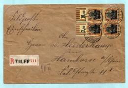 OC 17 (blok Van 4) Op Aangetekende Feldpost, Afst. TILFF 19/10/1918 Naar HAMBORN 21/11/1918 (10 Dagen Na Wapenstilstand) - WW I