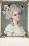 Meissner & Buch Unknown Artist  -  Young Lady In A White Wig Dressed In 18th Century Costume. - Künstlerkarten