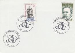 OBLIT. GF ILLUSTRÉE CONGRES CGT - LILLE 6/82 - Marcophilie (Lettres)