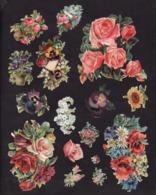 Découpis   Lot De 60     Fleurs        16 X 11 Cm Le Plus Grand - Découpis