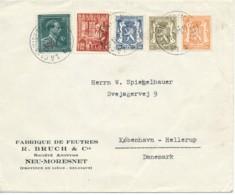 -10% - L De La Calamine – Neu-Moresnet 11.1.49 Vers Da-nemark (fabrique De Feutres) - 1946 -10%