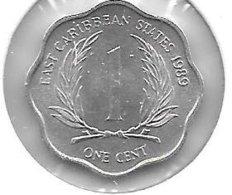East Caribbian States 1 Cent 1989 Km 10 Unc - Caribe Oriental (Estados Del)