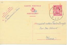Entier 75c  Avec Surcharge Rouge -10% Mons 26 2 47 - 1946 -10%