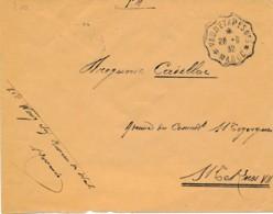 Maroc Franchise – VAG. D'ETAPES N°3 - 28.6.32 Vers Menkes Ville Nouvelle 1 7 32 - Postmark Collection (Covers)