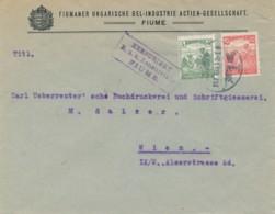 Brief Fiume 917 Mar 12 Nach Wien – K.u.K. Zensurstelle Fiume - Briefe U. Dokumente
