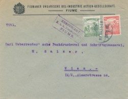 Brief Fiume 917 Mar 12 Nach Wien – K.u.K. Zensurstelle Fiume - Brieven En Documenten