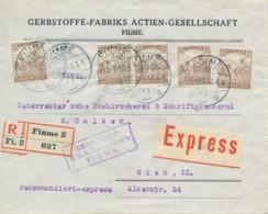 Brief Rekommandiert Express Fiume 2 / 17 APR 18 Nach Wien – K.u.K. Zensurstelle Fiume - Brieven En Documenten
