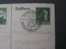 Nürnberg Karte SST 1938 - Ganzsachen