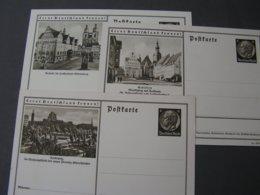 DR 3 X Bildkarte KattowitzEisleben Und Wittenberg * - Ganzsachen