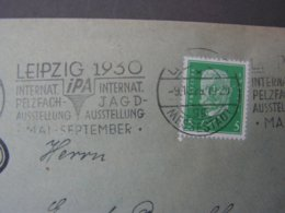 Cv. DR Mit SST Int. Jagsmesse Leipzig 1929 - Briefe U. Dokumente