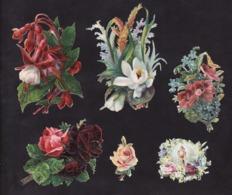 Découpis   Lot De 55     Fleurs        13 X 8 Cm Le Plus Grand - Découpis