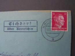 Krotoschin 1941 Landpost Cv. Polen ? - Briefe U. Dokumente