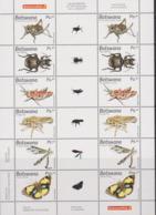 BOTSWANA , 2019, MNH,  INSECTS, BEETLES, BUTTERFLIES, LOCUSTS, CRICKETS, SHEETLET OF 2 SETS, SCARCE FORMAT - Butterflies