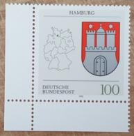RFA - 1992 - YT N°1462 - Armoiries De Hambourg - [7] Federal Republic