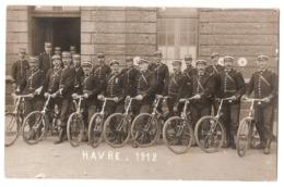 AN 120 - LE HAVRE - CARTE PHOTO - Gendarmes à Bicyclettes - 1912 - Le Havre
