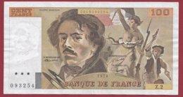 """100 Francs """"Delacroix"""" 1978 ---VF/SUP--ALPH Z.2 ---NON HACHURE PEU COMMUN -- ALPHABET--Z - 1962-1997 ''Francs''"""
