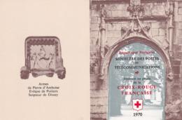 France - Carnet CROIX ROUGE N° 2019a - Neuf ** Année 1970 - Variété Croix Rouge à 27mm Au Lieu De 32 - - Red Cross