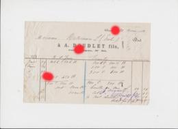 DISON 1881 Facture De A. DOUDLET Fils Rue Longue Vente De Charbon Et Houille - Belgium