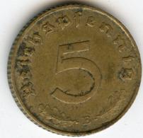 Allemagne Germany 5 Reichspfennig 1939 B J 363 KM 91 - 5 Reichspfennig