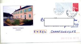 Pap Luquet Cachet Sainte Lizaigne Illustré Mairie - Biglietto Postale