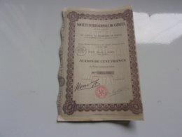 INTERNATIONALE DU CATALEX (1928) - Actions & Titres