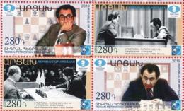 Armenien / Armenie / Armenia / Artsakh / Karabakh 2019, 90th Anniv. Of Tigran Petrosyan (1929-1984) Chess - MNH - Echecs