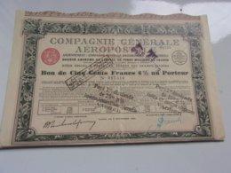 COMPAGNIE GENERALE AEROPOSTALE (bon De 500 Francs 6%) Imprimerie RICHARD - Actions & Titres