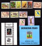 Burkina 1989-94, Plantes, Chiens, Sports, Entre 802 Et 889** + BF 40-41**, Cote 58 €, - Burkina Faso (1984-...)