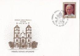 Letland - FDC 28-8-1993 - Papstbesuch - Papst Johannes Paulus II - FDC 360 - Letland