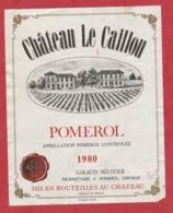 Etiquette - Vin - France - Pomerol - 1980 - Chateau Le Caillou. - Etiquetas