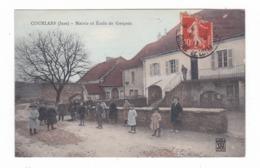 Courlans.39.Jura.Mairie Et Ecole De Garçons.1911 - Autres Communes