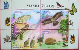 Tajikistan  2018  Reserve  RCC, Butterflies, Birds, Animals, Mountains   4 V  MNH - Oiseaux