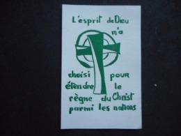 """IMAGE Pieuse - """"L'esprit De Dieu M'a Choisi ..."""" - JEC - JECF Au Dos - Religión & Esoterismo"""