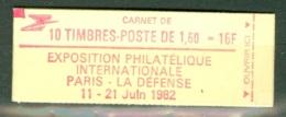 France  Carnet 2187 C2c  * *  TB  Conf 6   Avec Le 10 Sous Le Logo - Markenheftchen