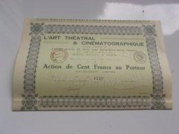 L'art Théatral & Cinématographique - Actions & Titres
