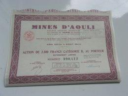 MINES D'AOULI (midelt MAROC) - Actions & Titres