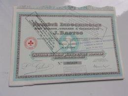 Indochinoise Des Tabacs,cigares & Cigarettes J. BASTOS (saigon,indochine) - Actions & Titres