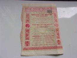 LA PRODUCTION ET LE COMMERCE DU RAISIN DE CORINTHE (1905) Athènes,grèce - Actions & Titres