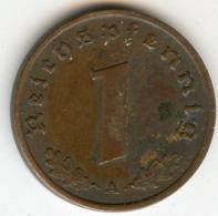 Allemagne Germany 1 Reichspfennig 1938 A J 361 KM 89 - 1 Reichspfennig