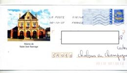 Pap  Logo Bleu Flamme Chiffree Illustré Mairie Saint Just - Biglietto Postale